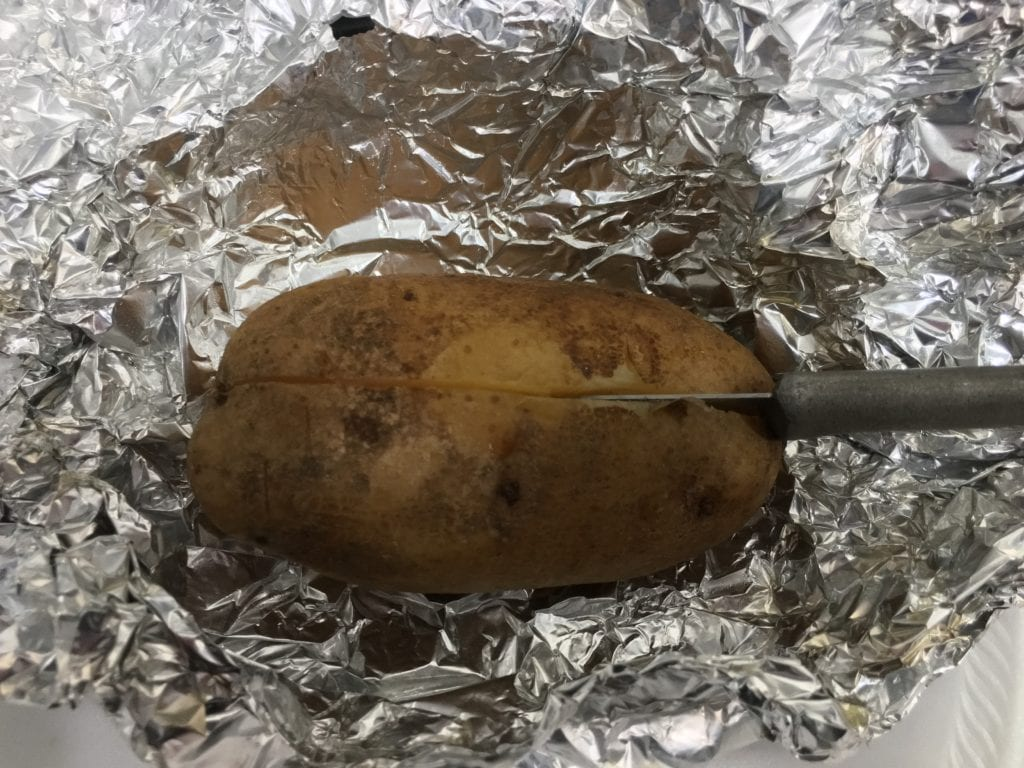 slow cooker baked potato