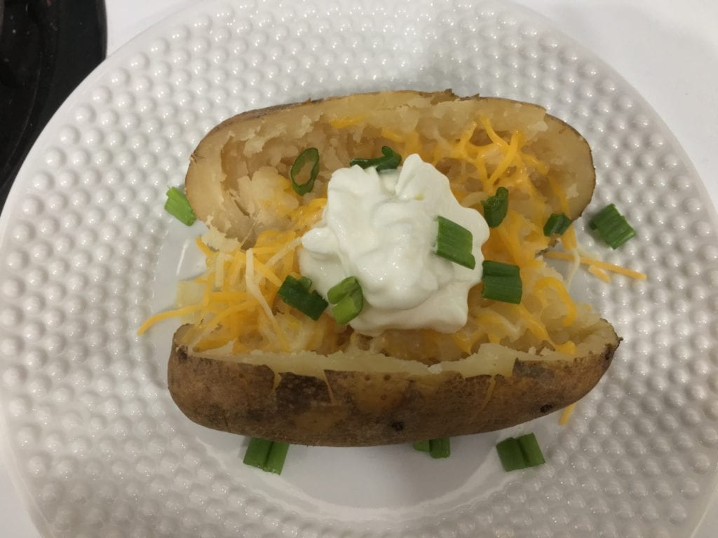 slow cooker baked potatos