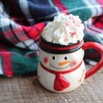 peppermint mocha latte