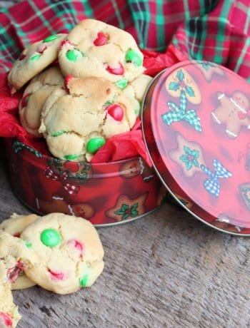 easy m&m christmas cookies