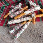 christmas pretzel rods