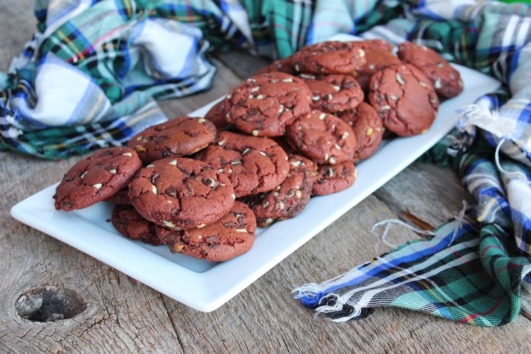 chewy chocolate peppermint cookies