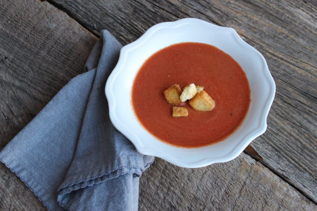 slow cooker tomato basil bisque