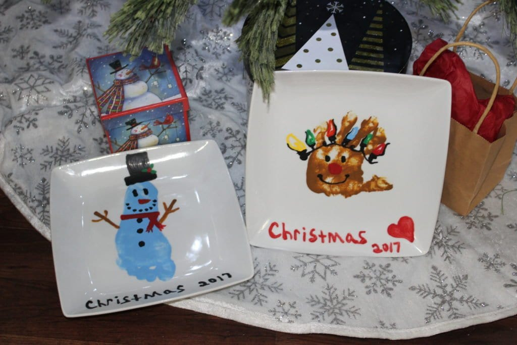 christmas rudolph hand print craft