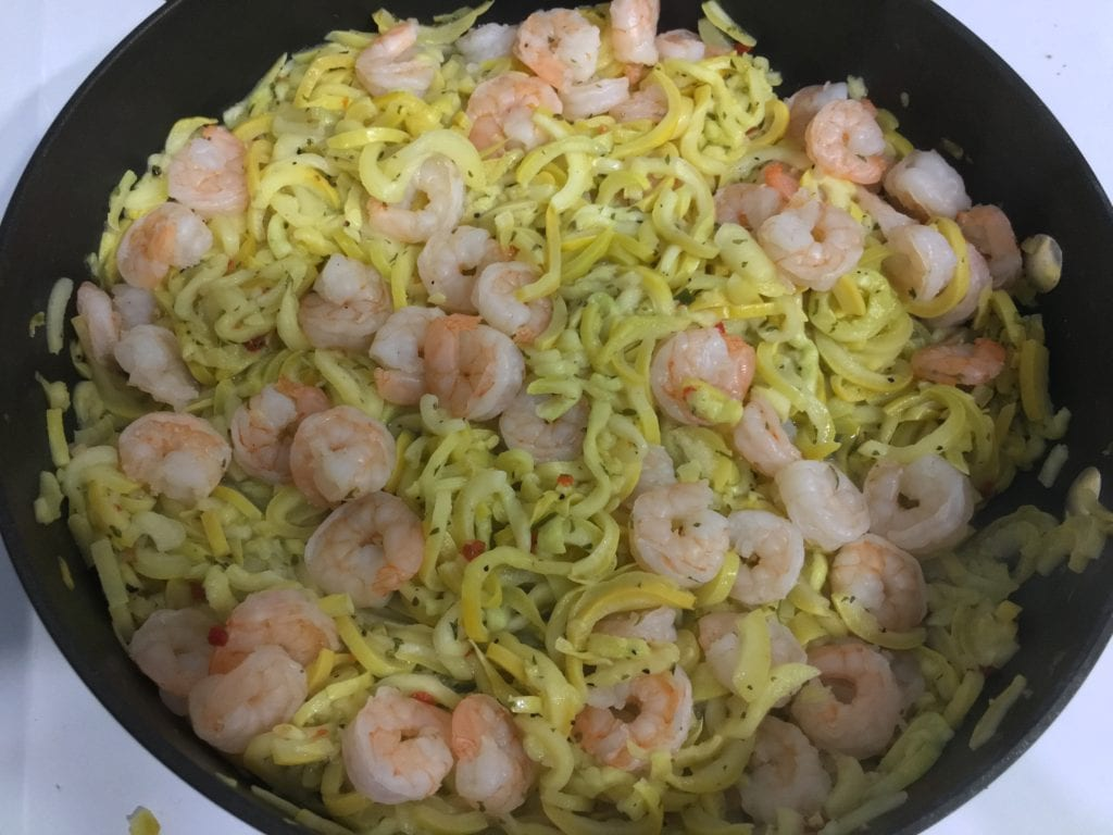 italian shrimp and zoodles