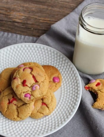 m&m valentine cookies
