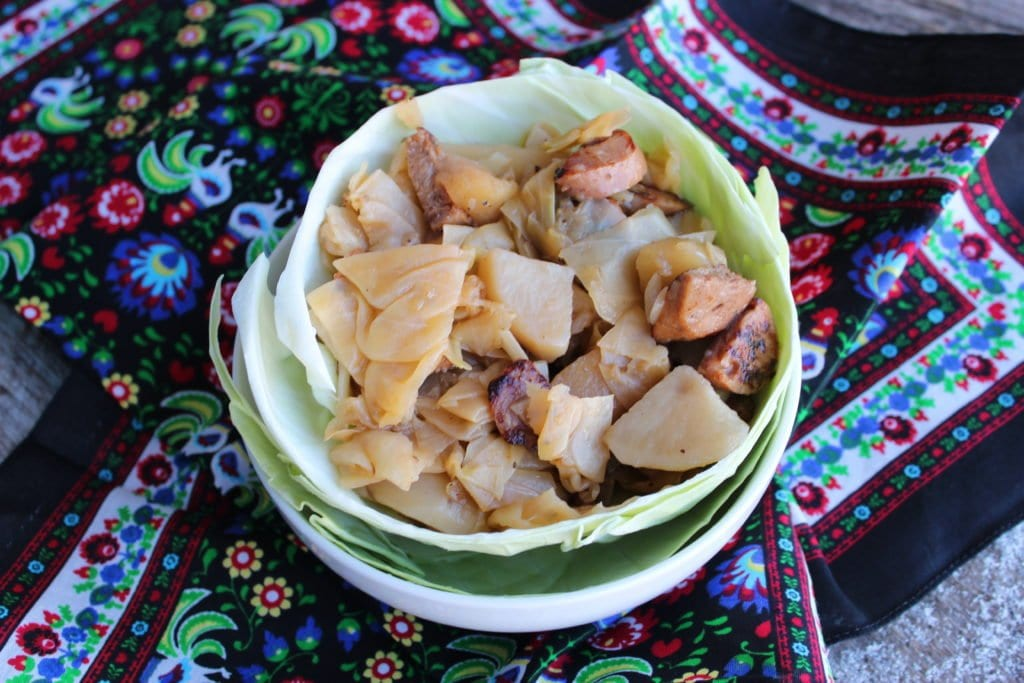 slow cooker sausage and cabbage