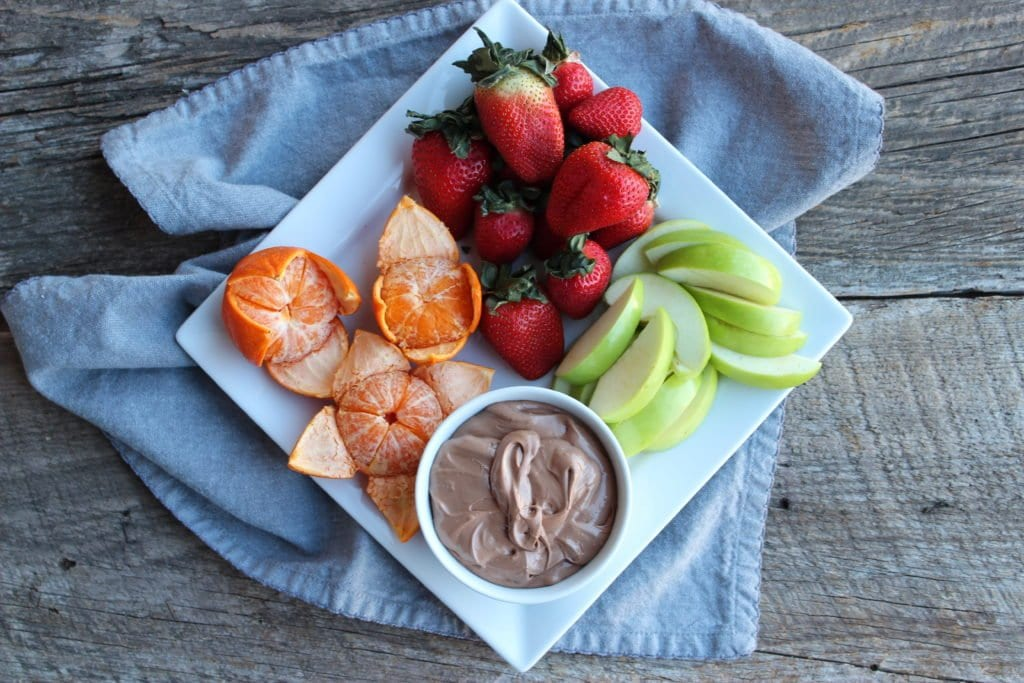 two ingredient nutella fruit dip