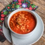 slow cooker stuffed bell pepper soup