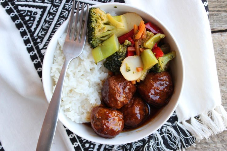 Asian Meatball Stir Fry Bowls