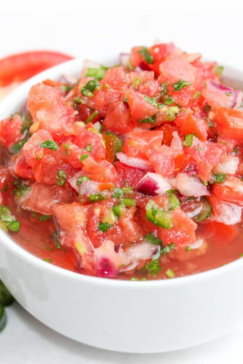 Paleo Salsa in a white bowl.